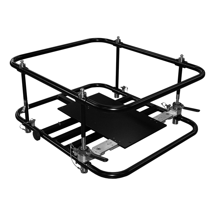 Frame and projector fit together in the case